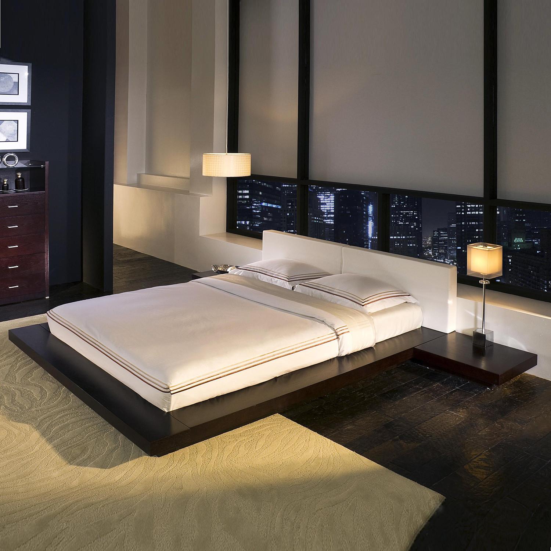 Worth Bed W Matching Nightstands In Wenge Modloft