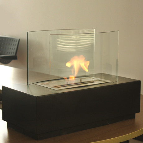 Nu flame eco friendly fireplaces touch of modern for Eco friendly fireplace