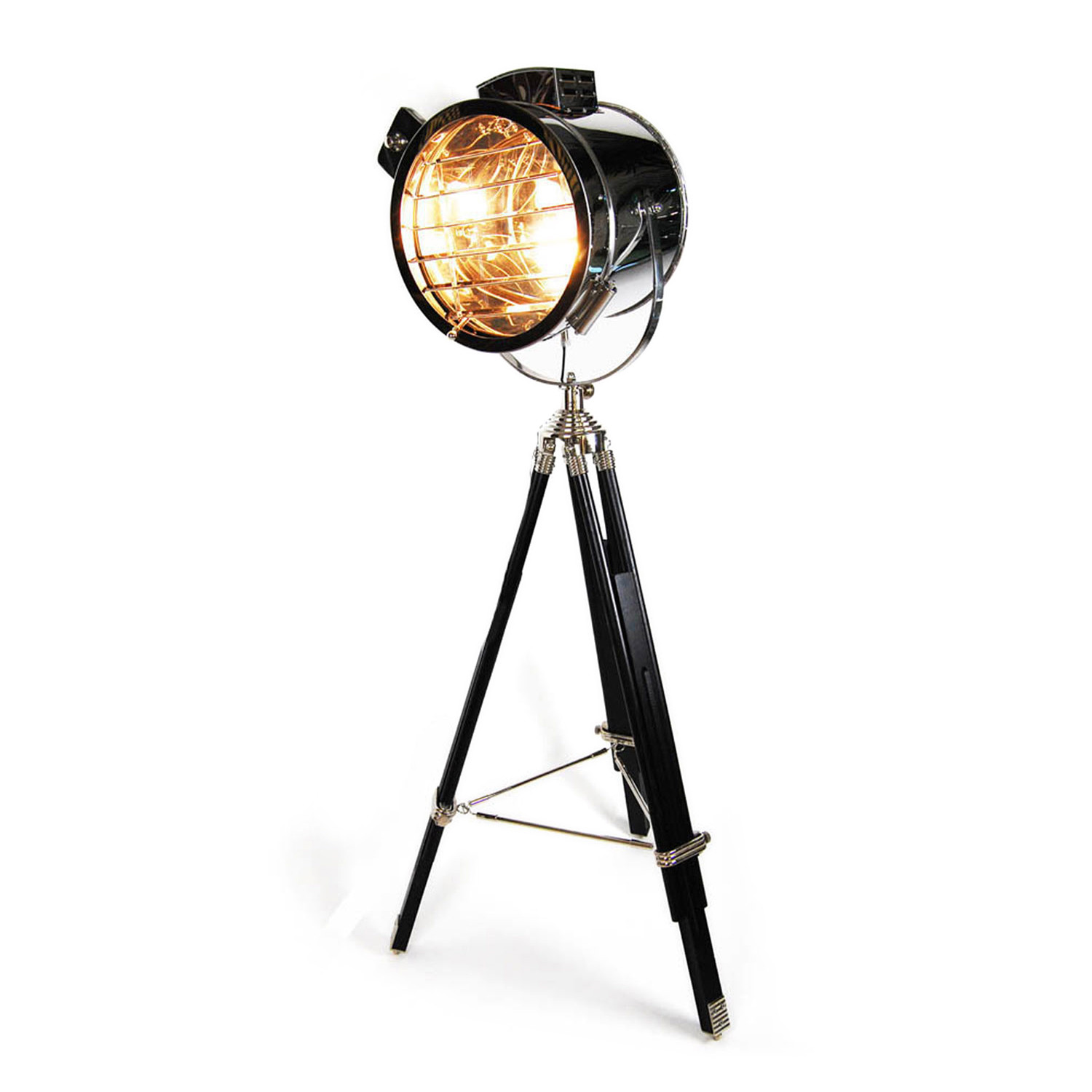 Hollywood tripod floor lamp hollywood regency touch of for 1940s hollywood studio floor lamp