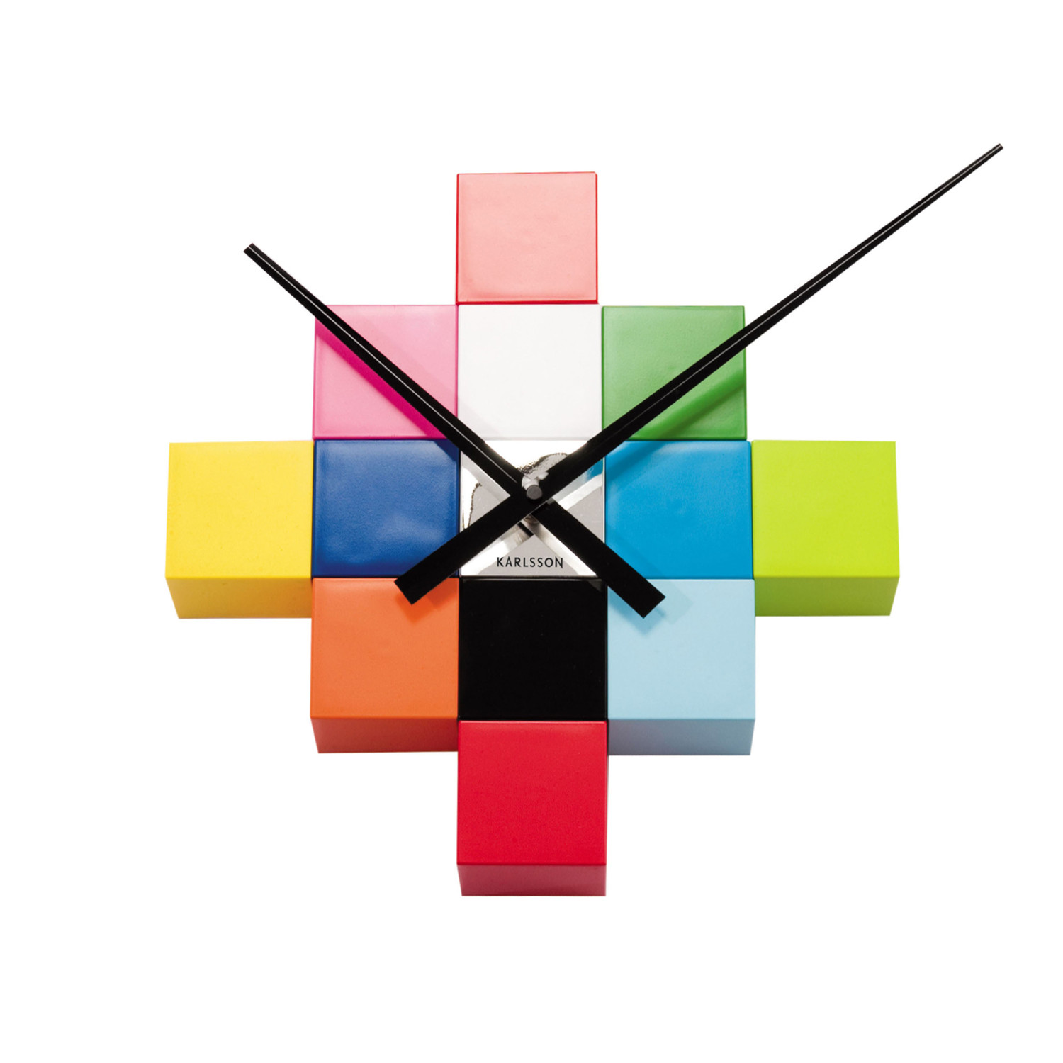 Wall Clock Diy Cubic Multi Color Karlsson By Present Time Inc