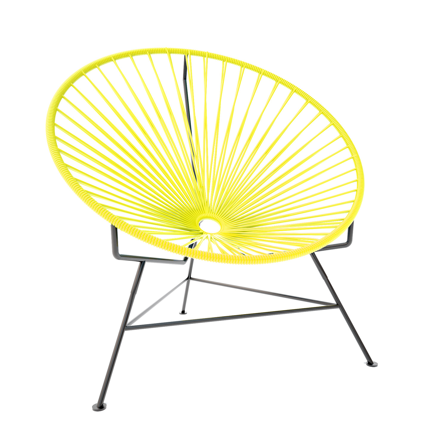 Innit Chair Yellow Weave on Black Frame Innit Touch of Modern