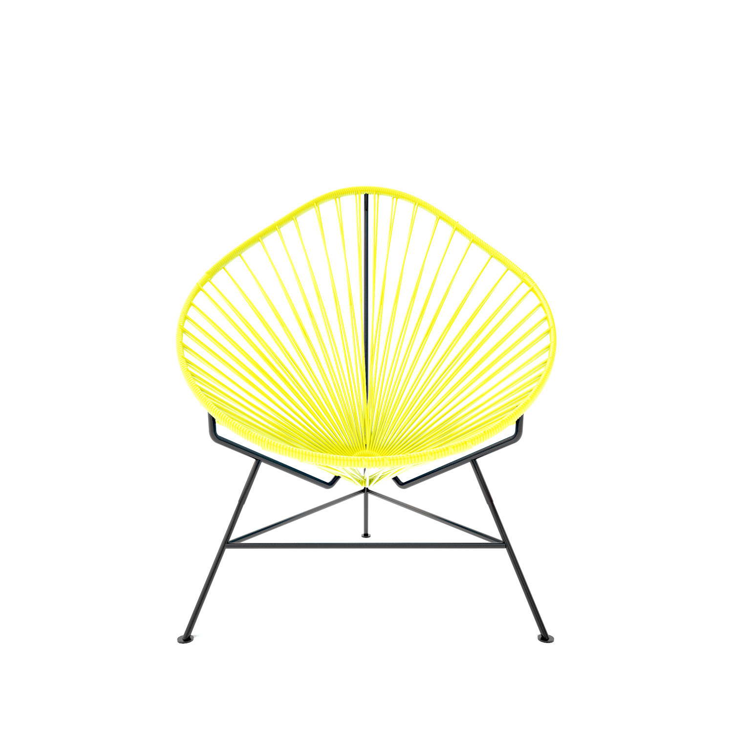 Baby Acapulco Chair Yellow Weave On Black Frame Innit
