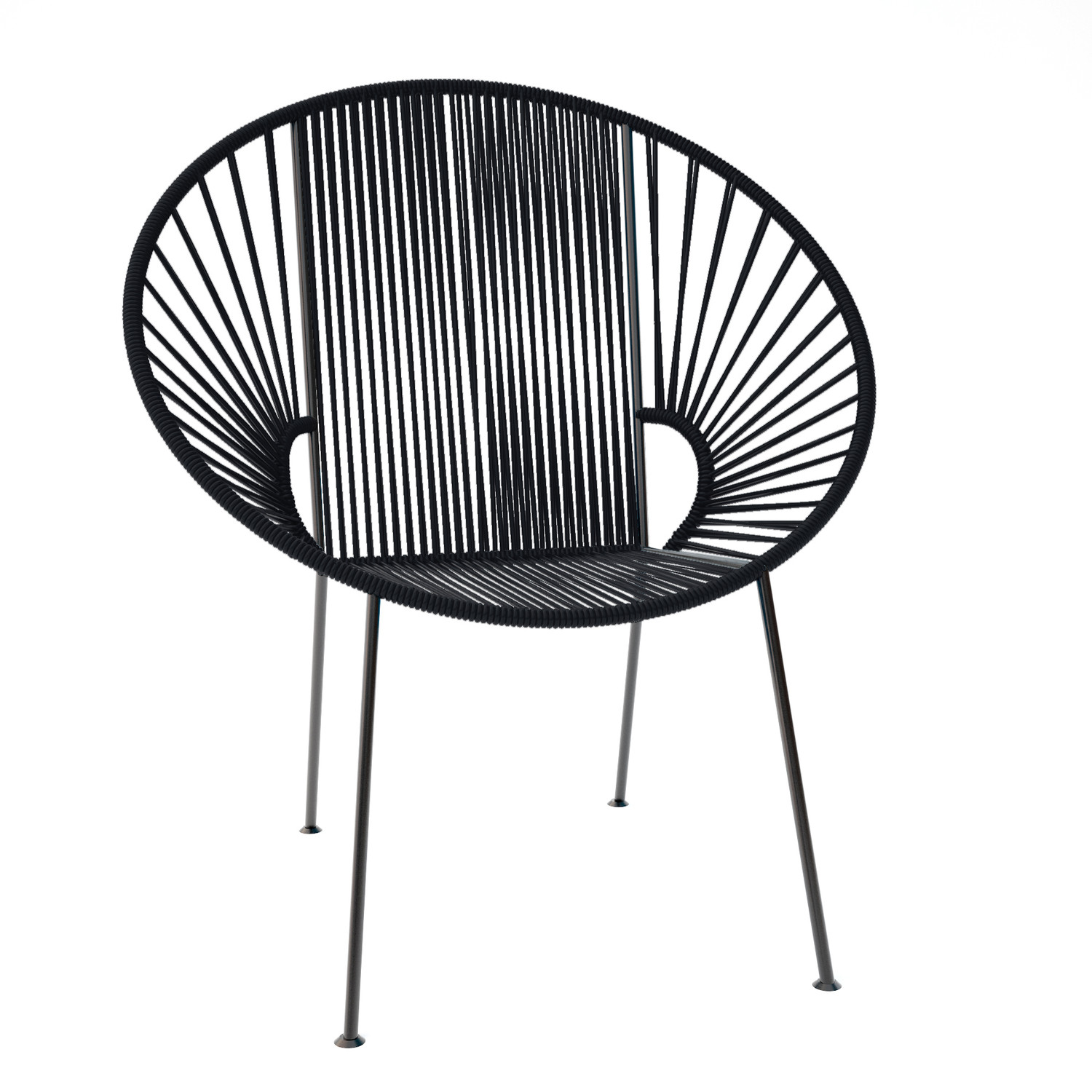 Etonnant Concha Chair   Black Weave On Black Frame