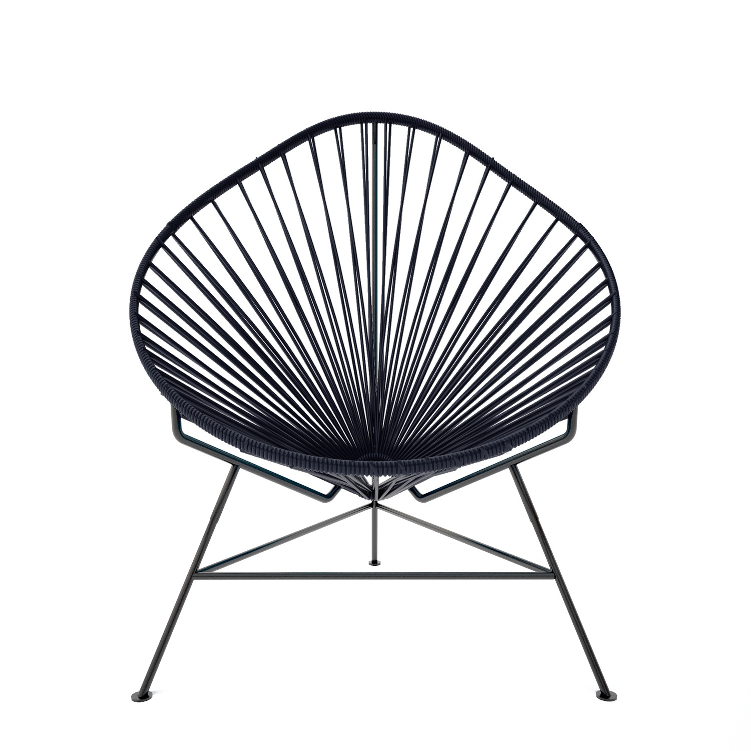 acapulco chair black weave on black frame innit touch of modern