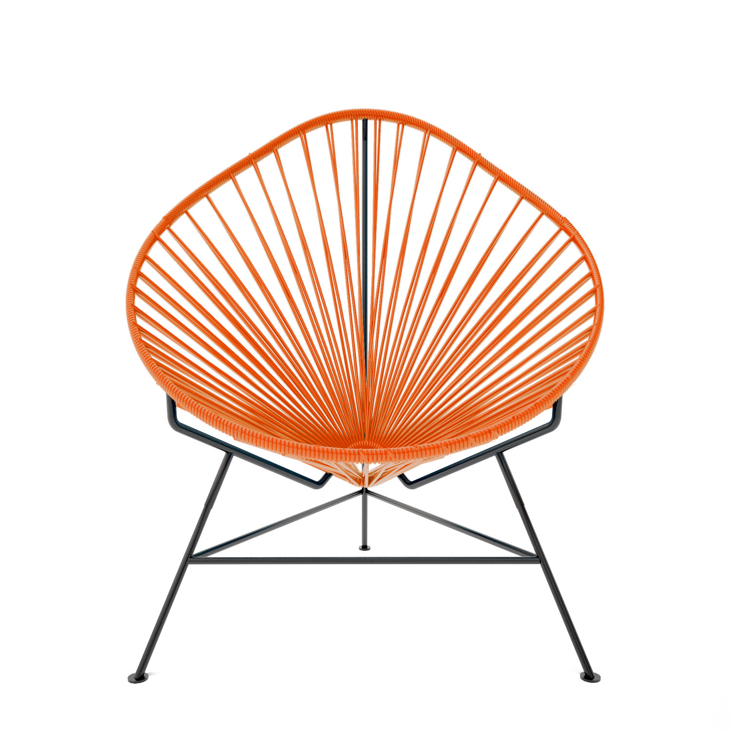 Acapulco Chair Orange Weave on Black Frame Innit Touch of Modern