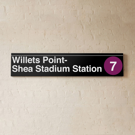 Willets Point-Shea Stadium Station Sign (Sign, Shea)