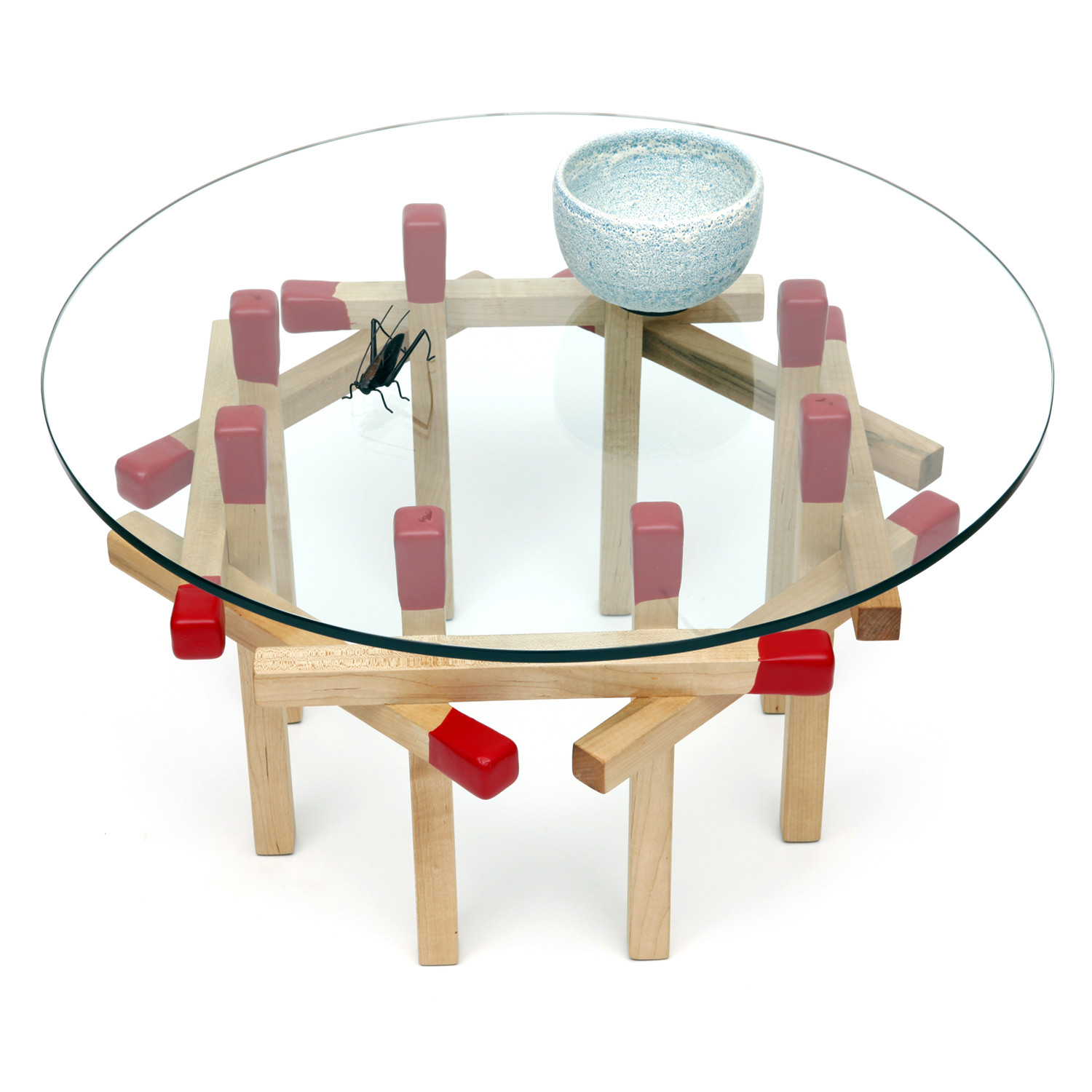 Maple Octagon Matchstick Table