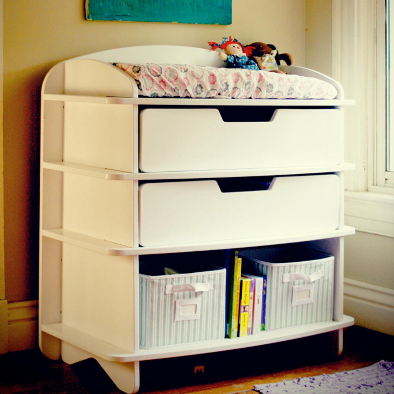 Aero Dresser Changing Table White Sodura Touch Of Modern