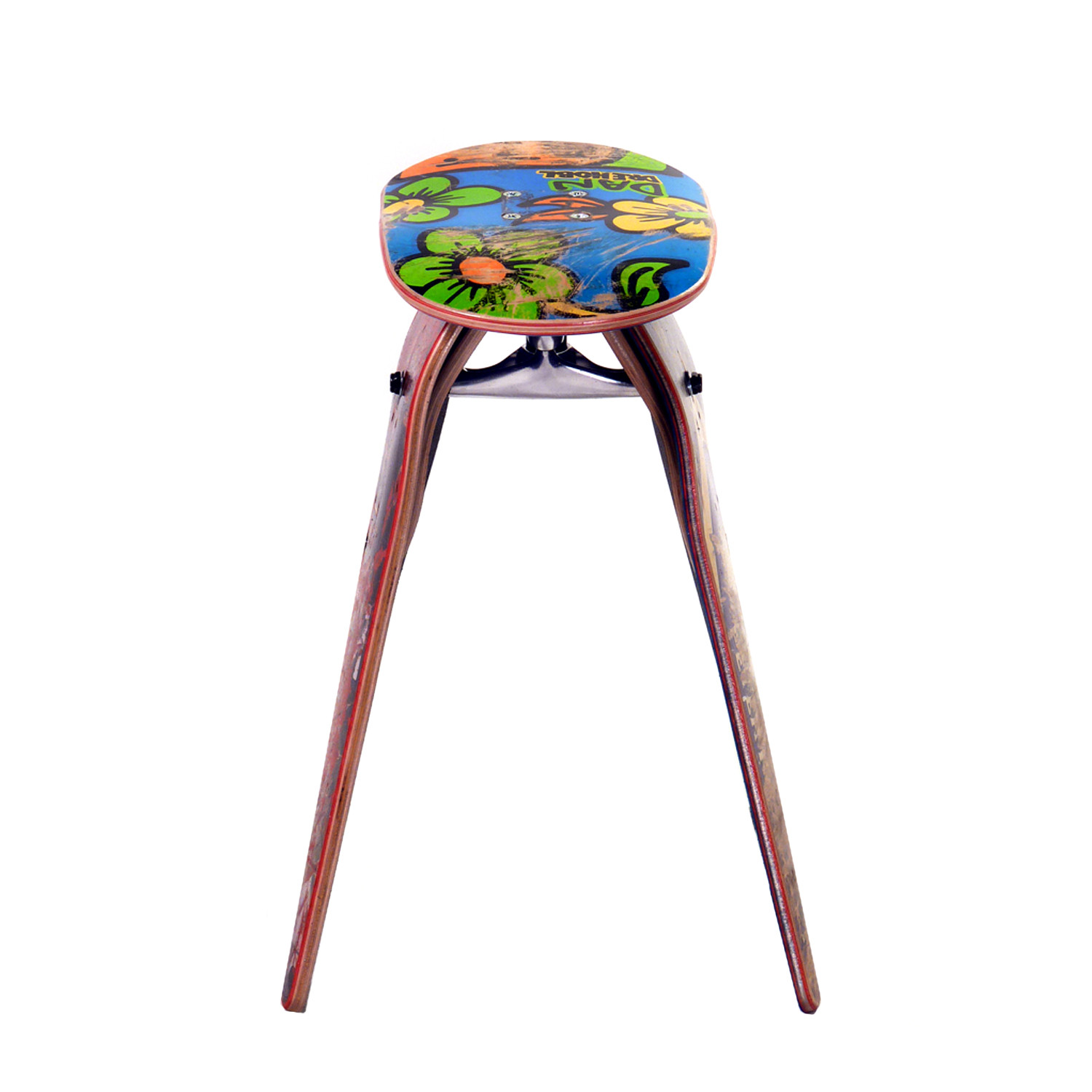 Recycled Skateboard Stool Stools Will Vary From The