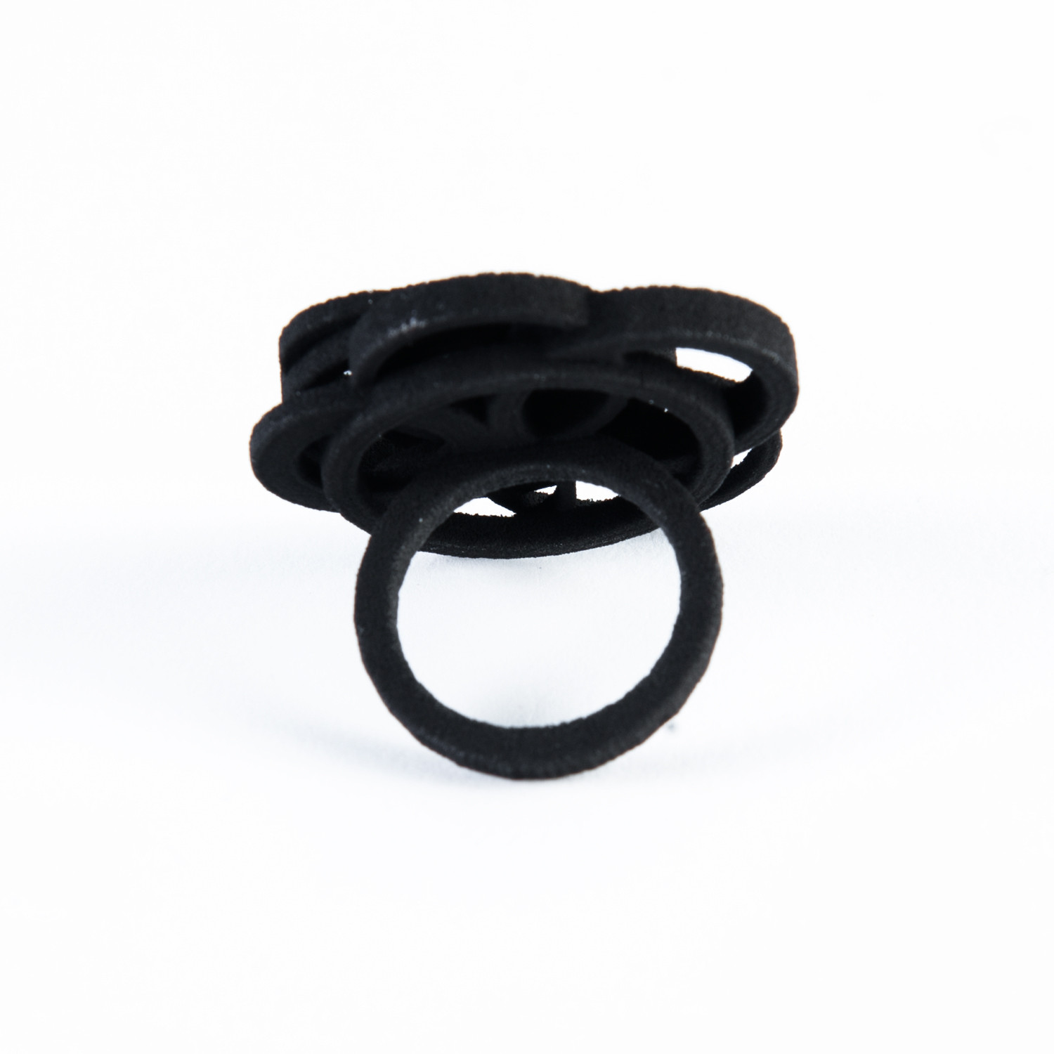 Circle Ring Black — 3D Printed Black (Size 7) - Melissa ...