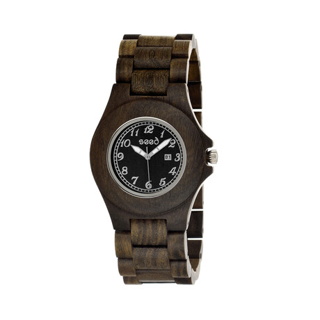 Mens & Ladies Dark Brown Xylem Wood Watch
