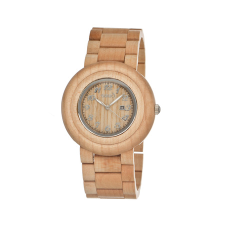 Mens & Ladies Khaki/Tan Cambium Wood Watch
