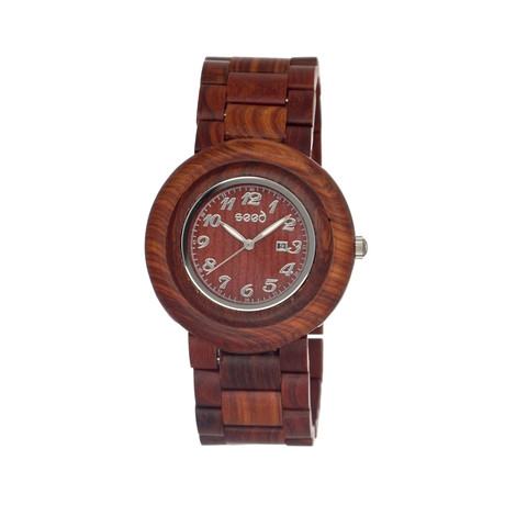 Mens & Ladies Brown Cambium Wood Watch