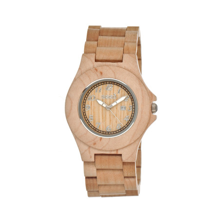 Mens & Ladies Khaki/Tan Xylem Wood Watch