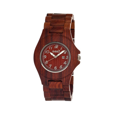 Mens & Ladies Brown Xylem Wood Watch