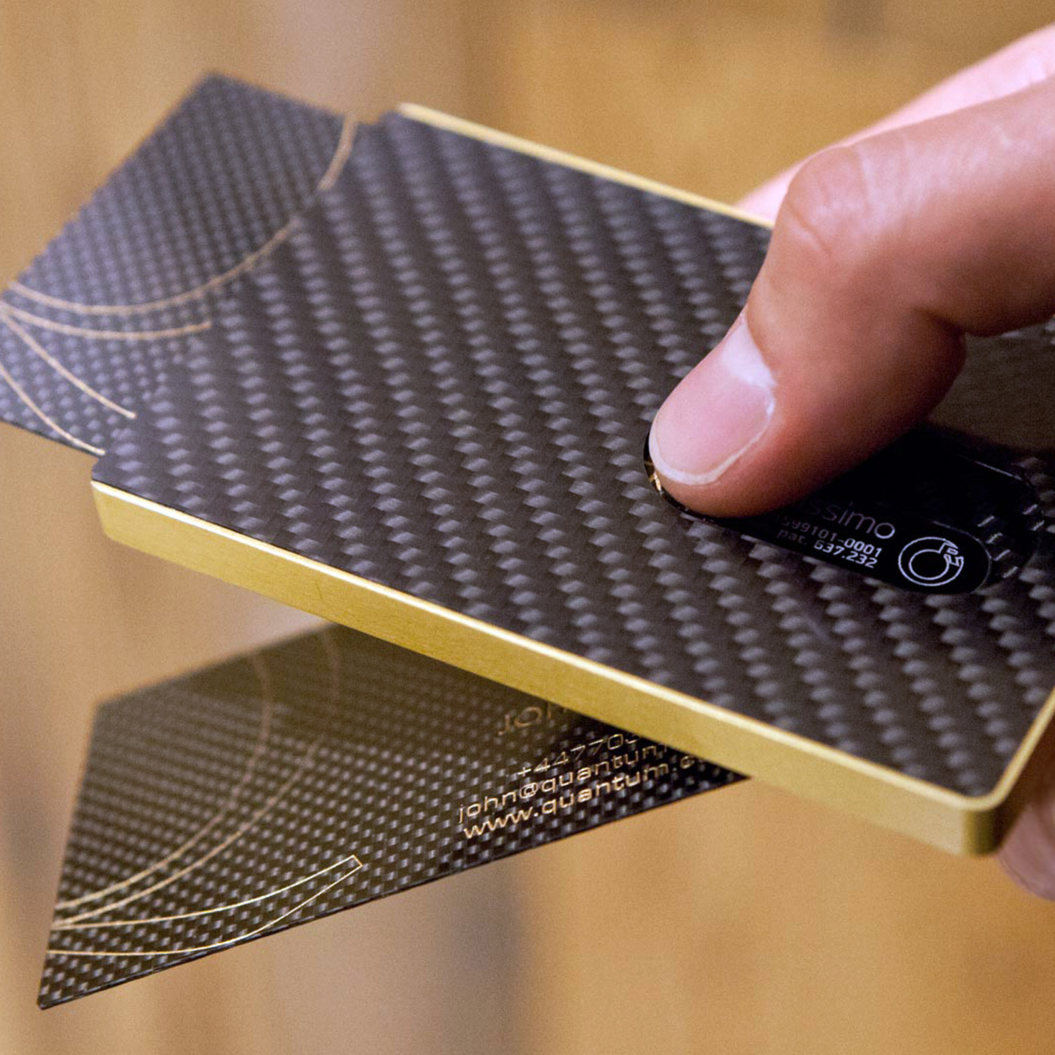 carbon fibre card case  gold  cardissimo  touch of modern