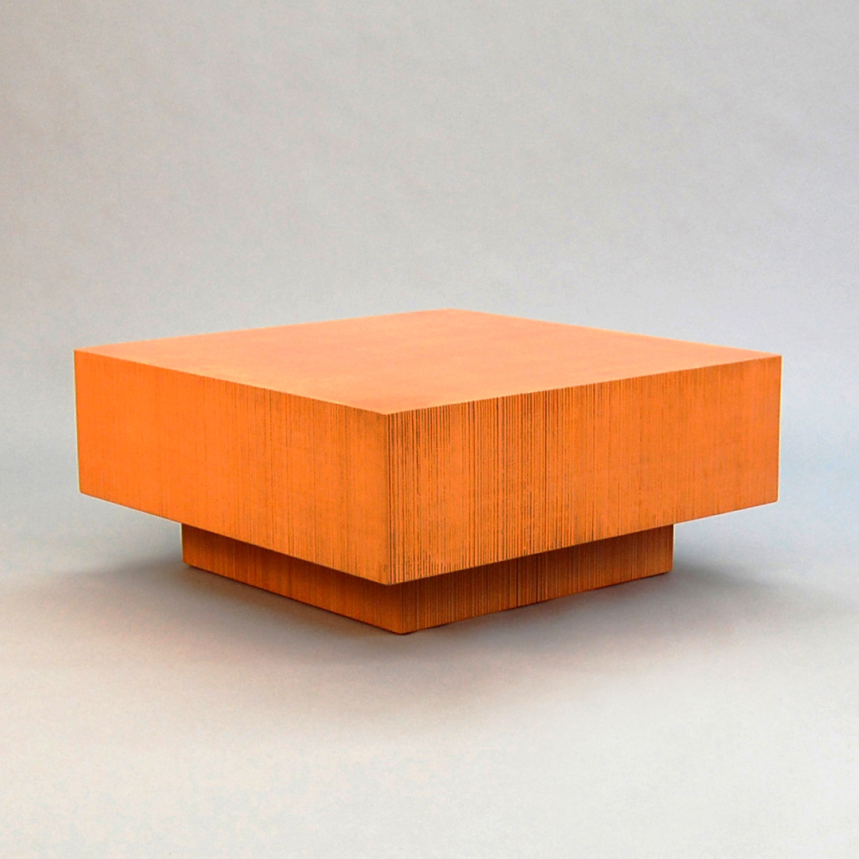 Exceptionnel Block Coffee Table // Orange