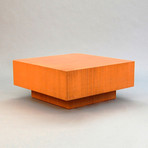 Block coffee table orange jeb jones touch of modern for Small block coffee table