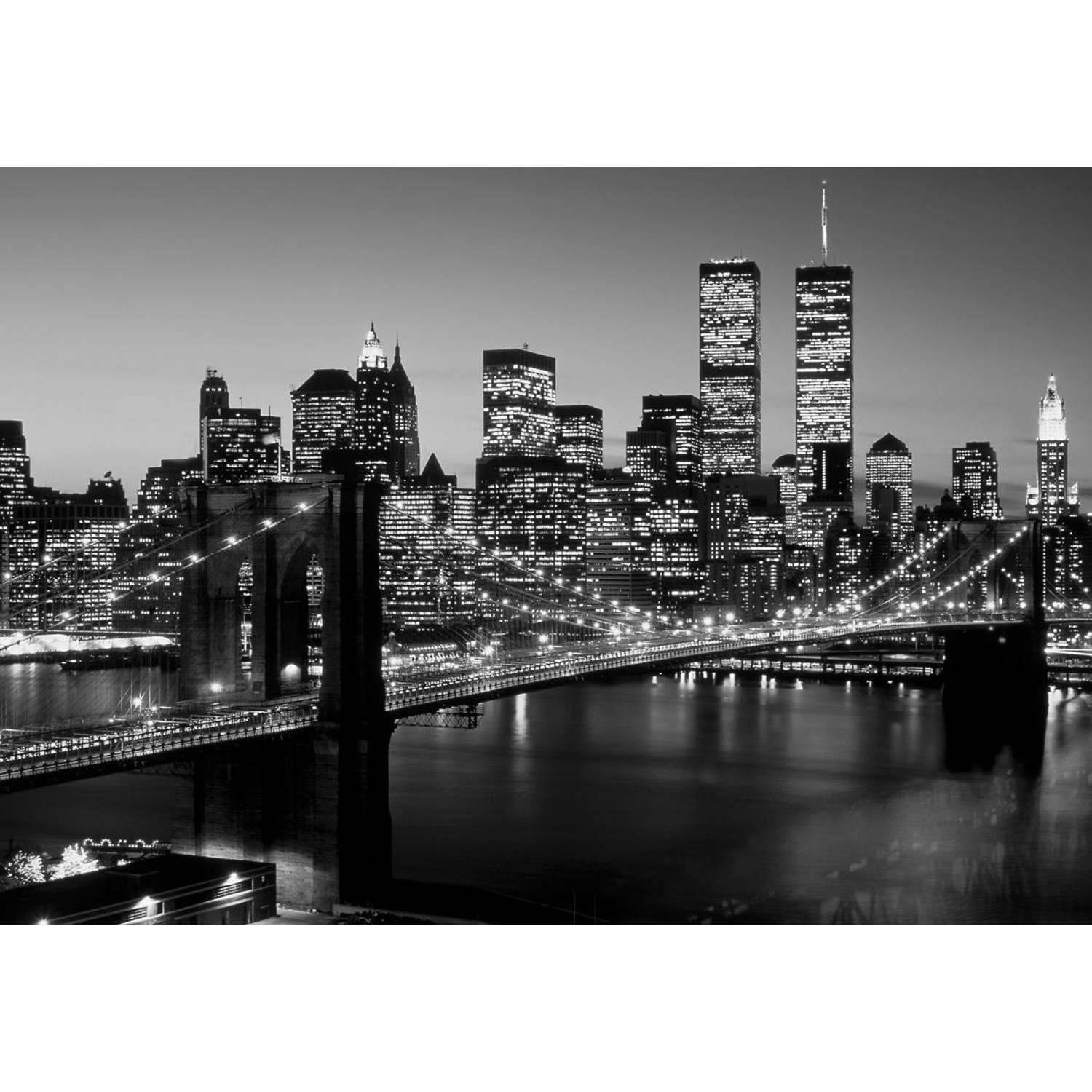 Brooklyn Bridge, NYC // Black & White II (30x40) - Richard ...
