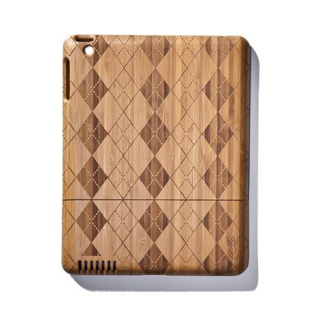 Argyle Bamboo iPad Case