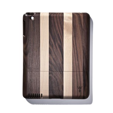 Light Striped Walnut iPad Case