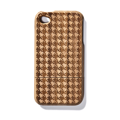 Houndstooth Bamboo iPhone 4 Case