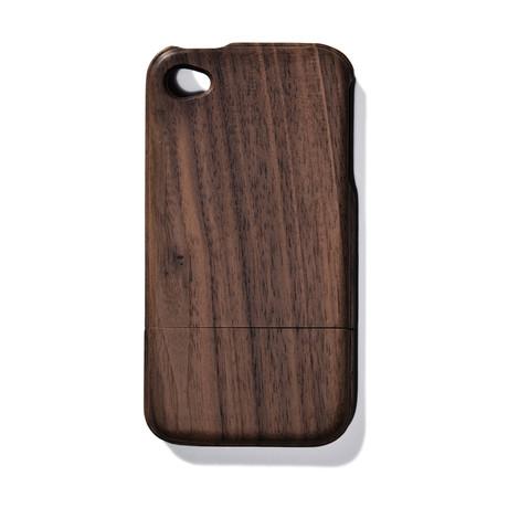 Solid Dark Walnut iPhone 4 Case