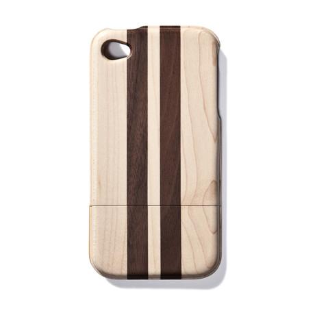 Dark Striped Walnut iPhone 4 Case