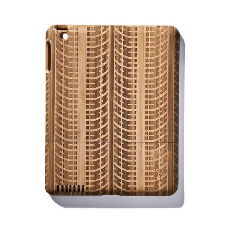 Tire Tracks Bamboo iPad Case