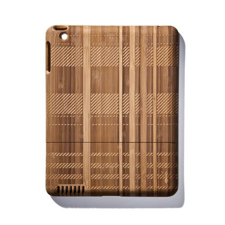 Plaid Bamboo iPad Case