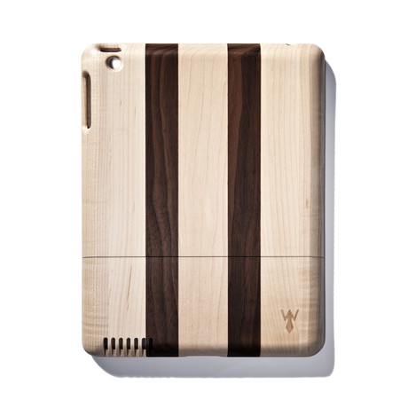 Dark Striped Walnut iPad Case