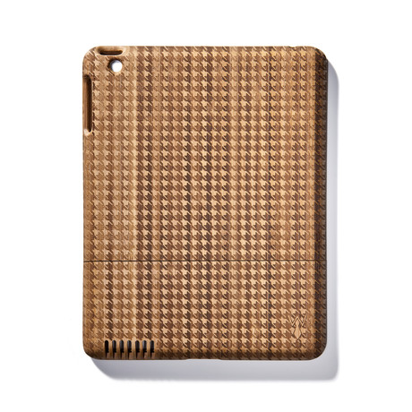 Houndstooth Bamboo iPad Case