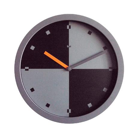 """Bai 10"""" Quadra Wall Clock w/ Squares"""