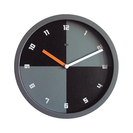 """Bai 10"""" Quadra Wall Clock w/ Milan Font"""