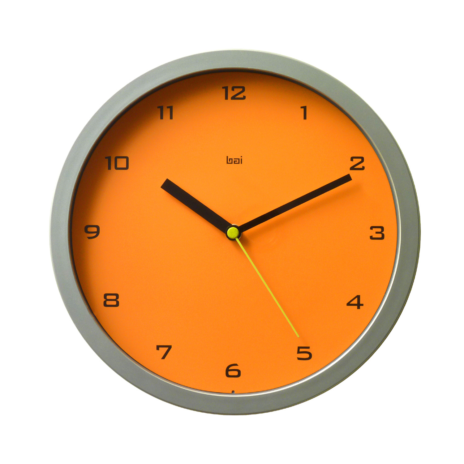 modern orange wall clock image collections