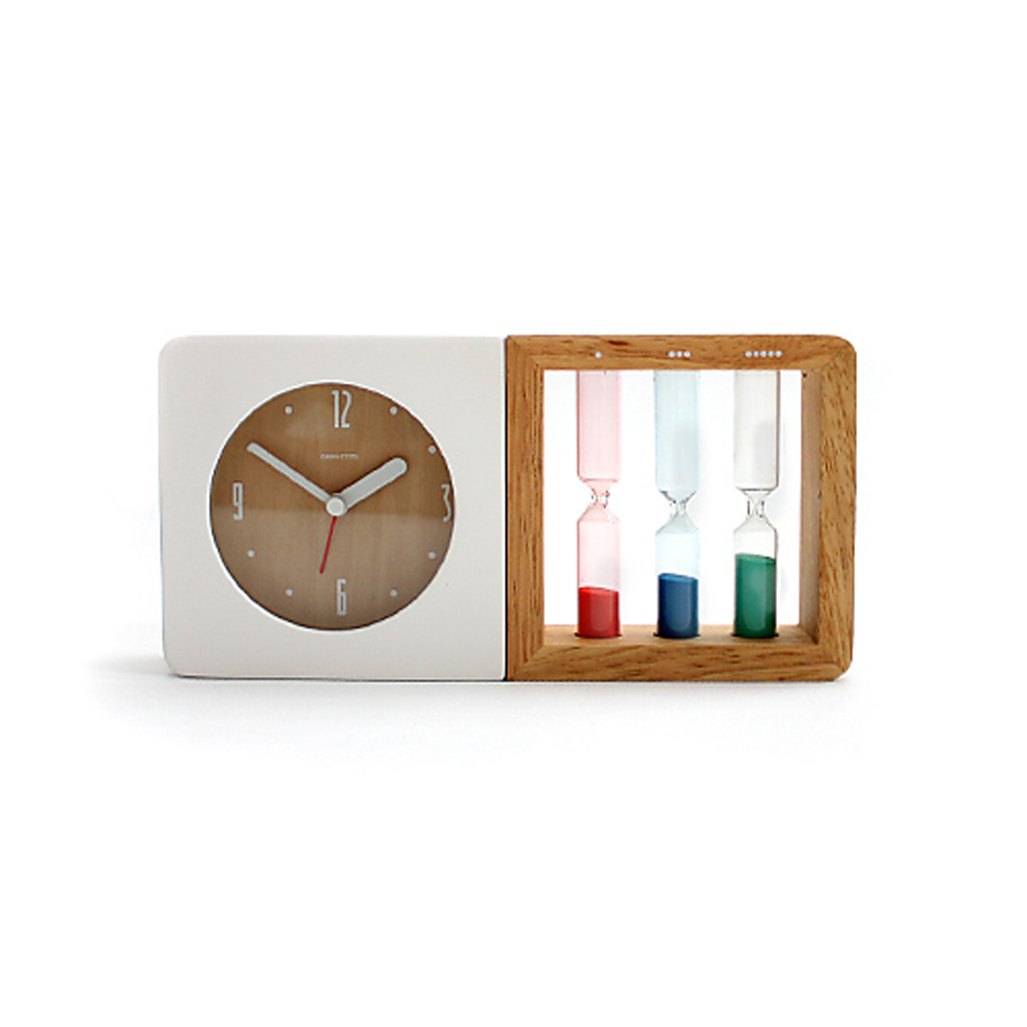 Three color hourglass alarm clock geekcook touch of modern for Touch of modern clock
