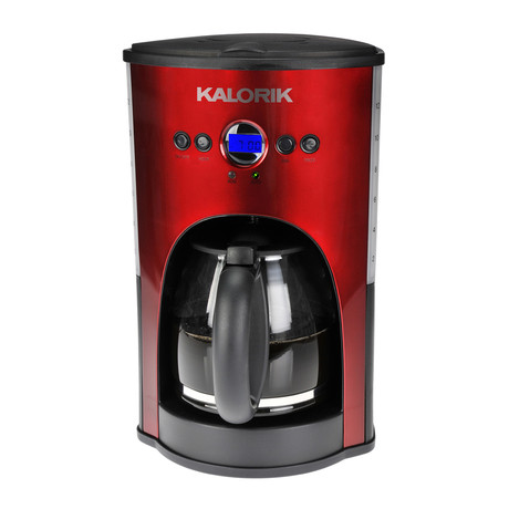 Red Programmable Coffee Maker : Programmable 12 Cup Coffee Maker // Red - Kalorik - Touch of Modern