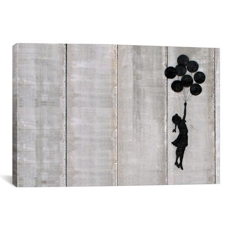 "Flying Balloons Girl // Banksy (26""W x 18""H x 0.75""D)"