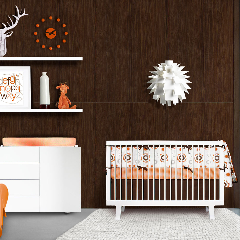 billie piece crib bedding set  orange  white  olli  lime  - billie piece crib bedding set  orange  white