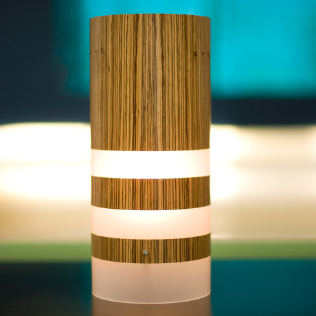 Legna Medium Table Lamp // Zebrawood