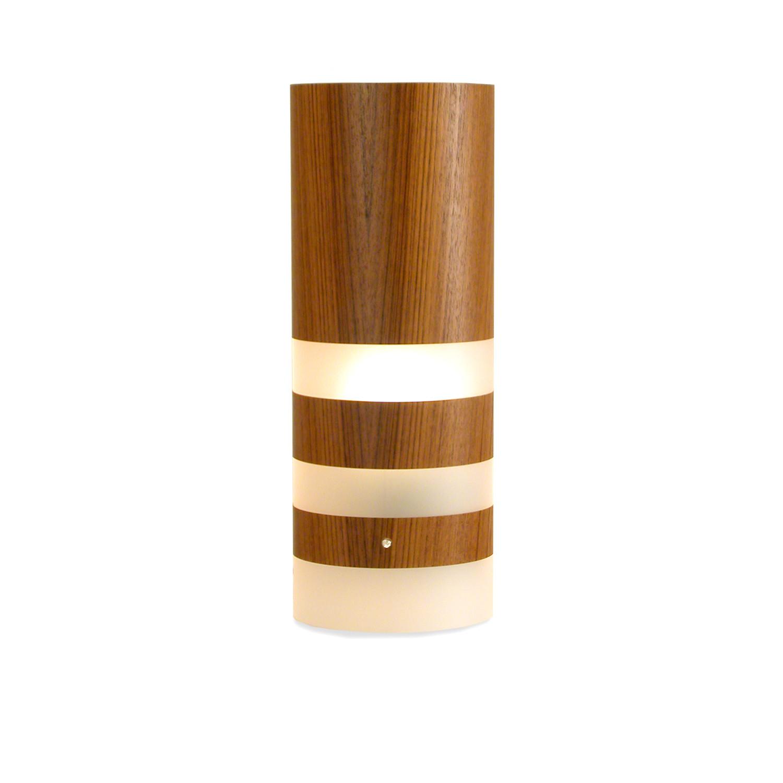 Legna Medium Table Lamp Teak Wood Veneer Jefdesigns Touch Of