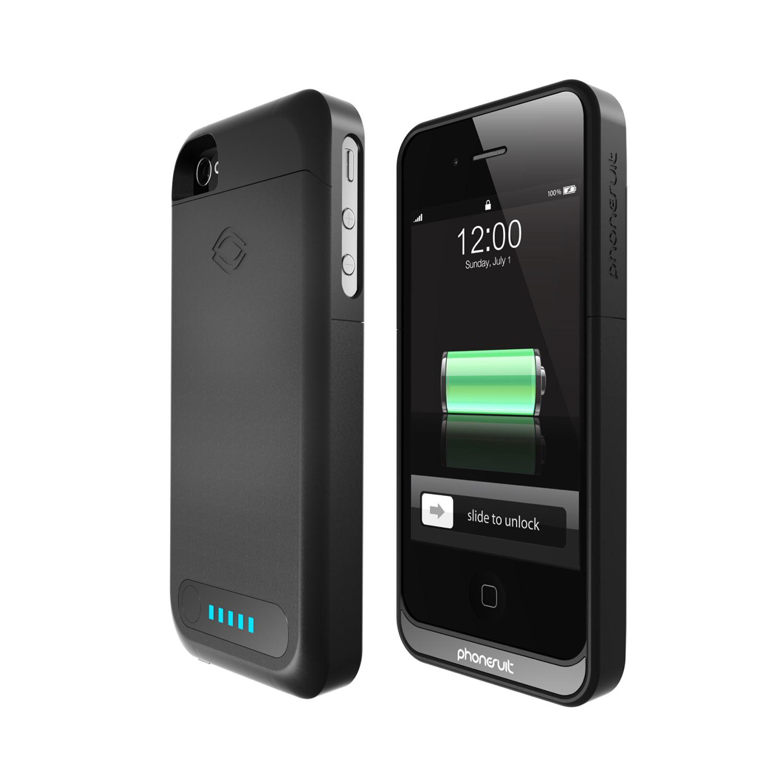 phonesuit elite battery case for iphone 4 4s black. Black Bedroom Furniture Sets. Home Design Ideas