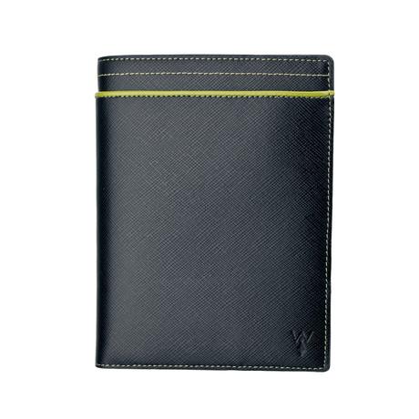 RFID Leather Passport Wallet (Green)