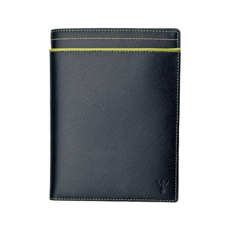 RFID Leather Passport Wallet (Grey)