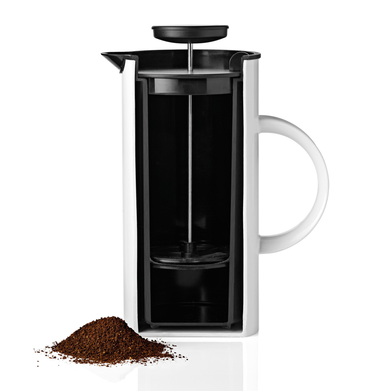 em french press (stainless steel)  stelton  touch of modern - em french press (stainless steel)