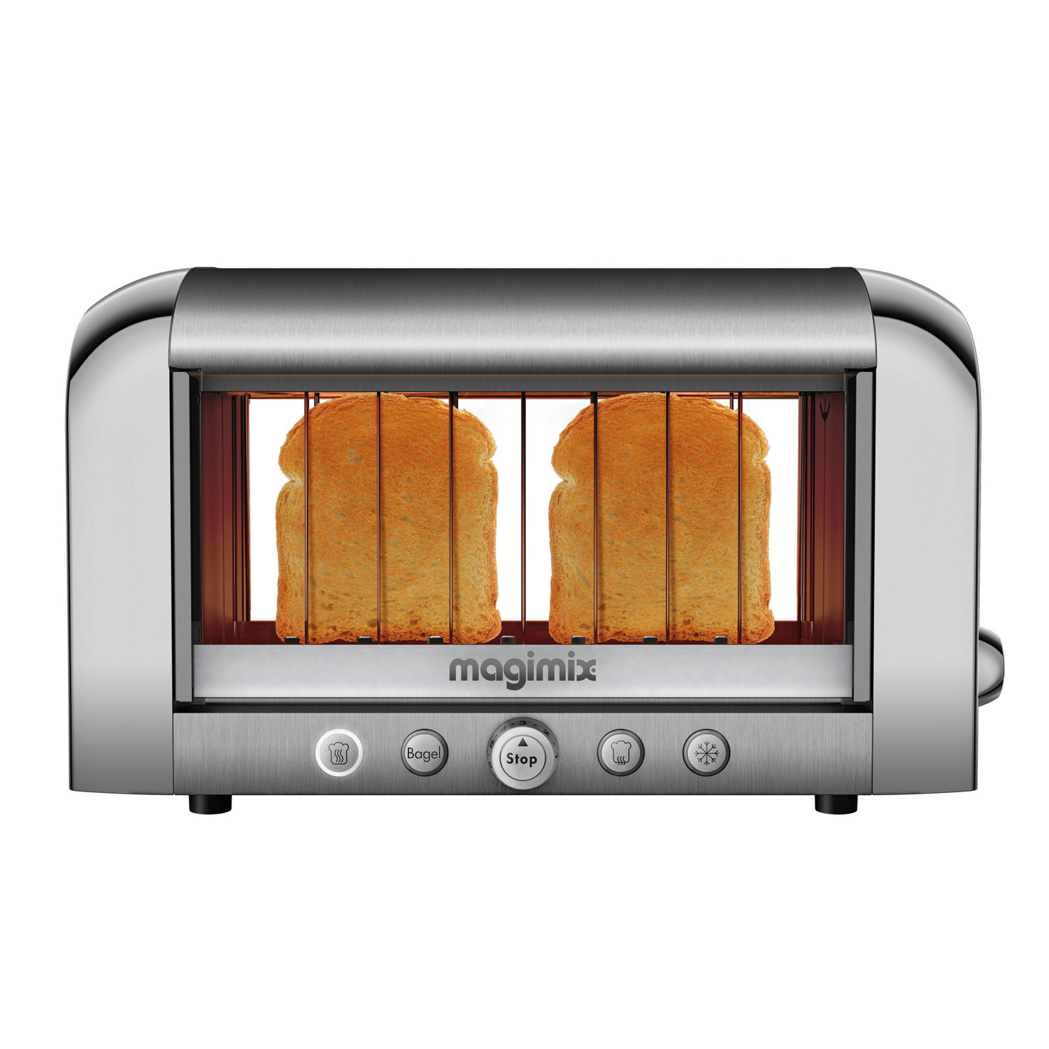 vision toaster chrome magimix by robot coupe touch of modern. Black Bedroom Furniture Sets. Home Design Ideas
