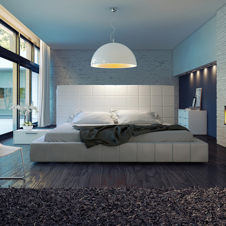 Thompson Bed // White (Queen)