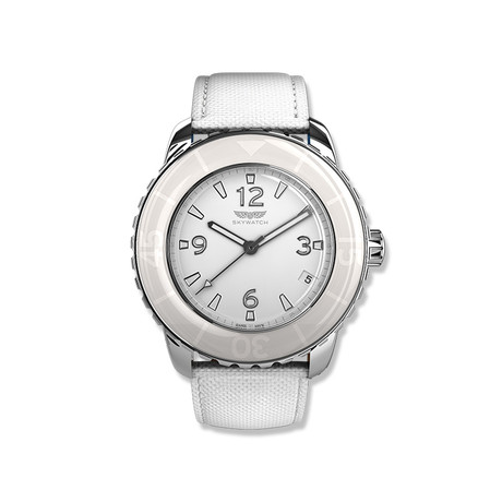 3-Hand Watch with Bonus Strap // Stainless Steel and White