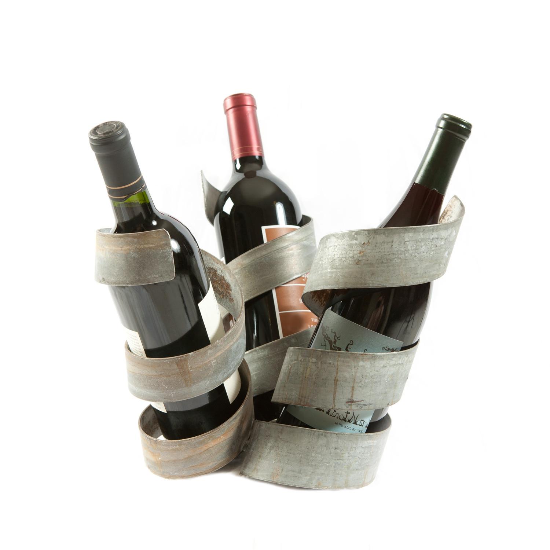 Charlie 39 s angles three bottle wine holder wine barrel - Wine bottle storage angle ...