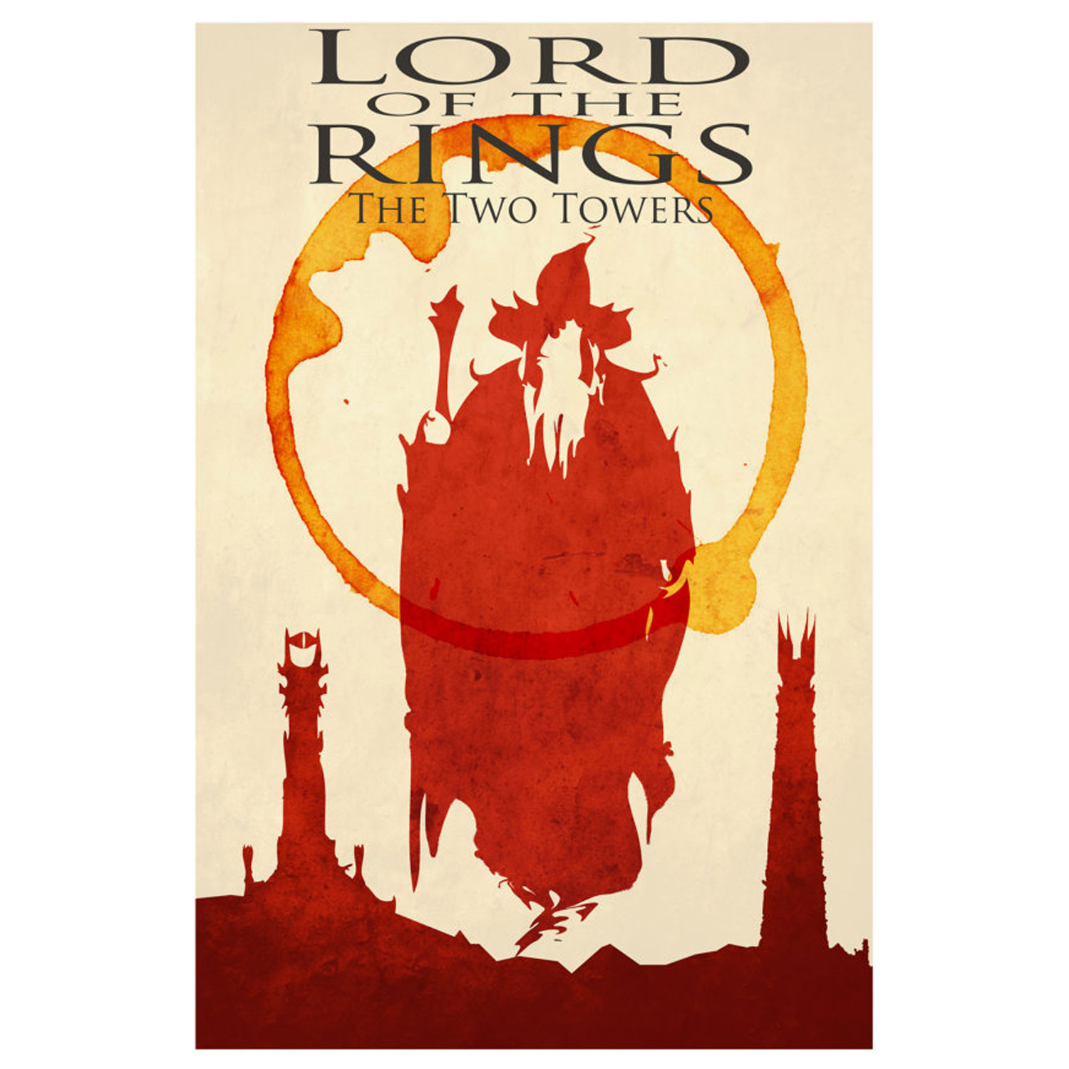 """Lord of the Rings Movie Poster // The Two Towers (16"""" x 24"""